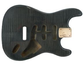 STRAT BODY FLAME TRANS BLACK